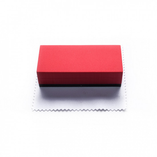 Sponge Applicator With Microfiber Applicator Cloth
