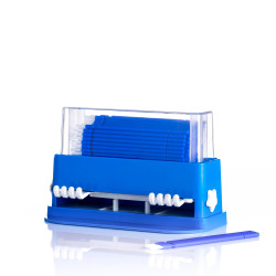 Micro Brush  With Dispenser - Set of 100 Blue