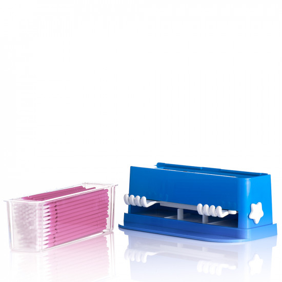 Micro Brush  With Dispenser- Set of 100 Pink
